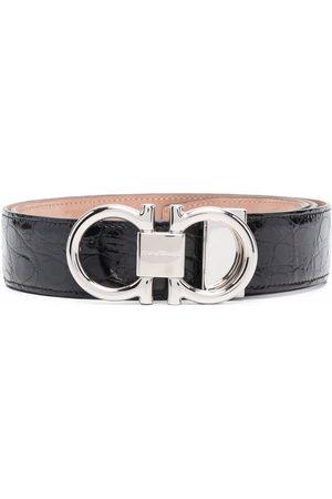 Salvatore Ferragamo Heren Riemen - Gancini buckle belt
