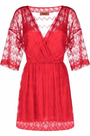 Missoni Dames Jurken - Sheer-sleeve dress