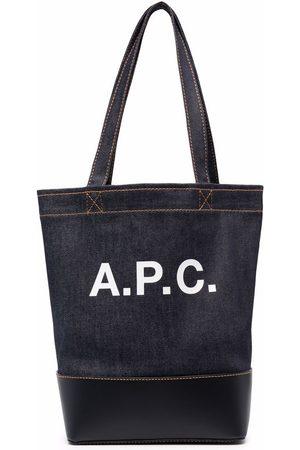A.P.C. Denim logo shoulder bag