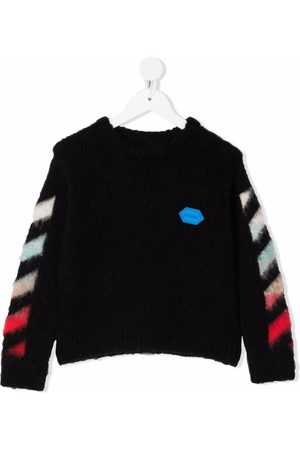 Off-White Kids Jongens Sweaters - OFF BRUSHED SWEATER MULTICOLOR