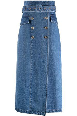 Nanushka Zane denim skirt