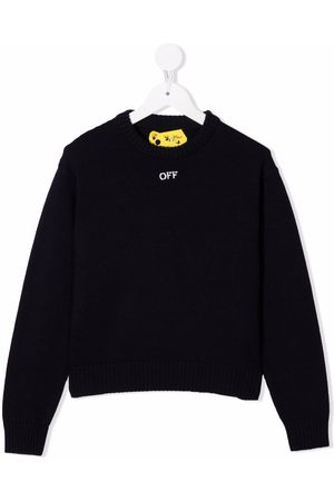 Off-White Kids OFF STAMP SWEATER NAVY WHITE