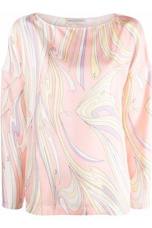 Emilio Pucci Vortici-print silk blouse