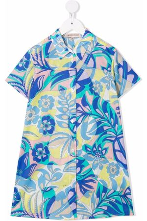Emilio Pucci Meisjes Casual jurken - Samoa floral-print shirt dress