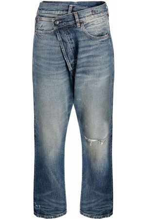 R13 Asymmetric distressed denim jeans