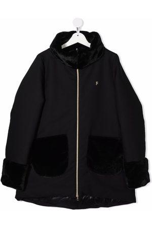HERNO TEEN virgin-wool pocket coat
