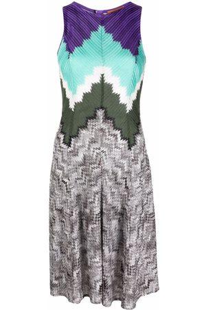 Missoni Patterned intarsia-knit sleeveless dress