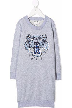 Kenzo Meisjes Casual jurken - Tiger-embroidered sweater dress