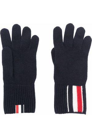 Thom Browne RWB stripe merino wool gloves
