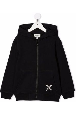 Kenzo Zipped logo-print hoodie