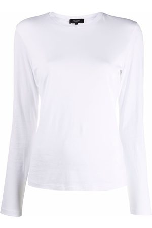 THEORY Long-sleeved cotton T-shirt