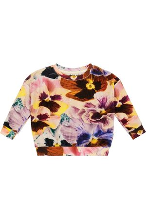 Molo Mika floral velvet sweatshirt