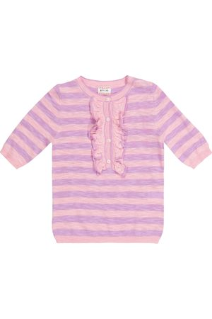 MORLEY Nixie striped cotton-blend sweater