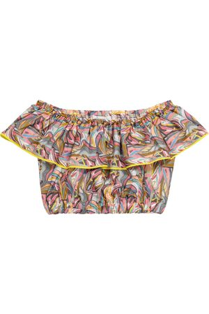 PAADE Jungle printed cotton crop top