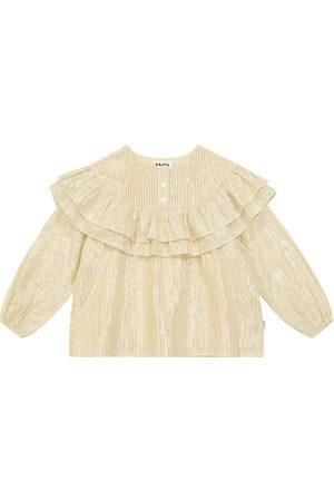 Molo Rexanna ruffled cotton-blend blouse