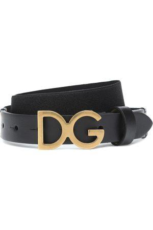 Dolce & Gabbana DG leather-trimmed belt