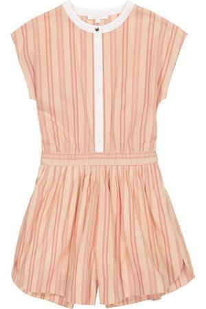 Chloé Striped cotton playsuit