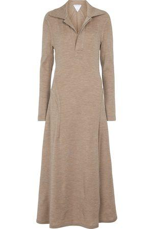 Bottega Veneta Virgin wool midi dress