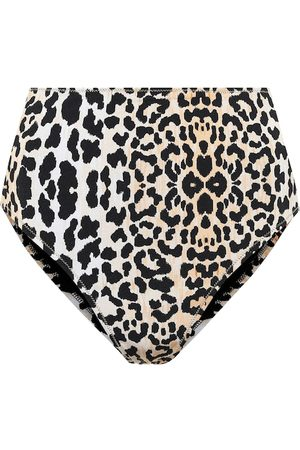 Reina Olga Hutton leopard-print bikini bottoms