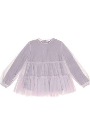Il gufo Tulle and cotton top