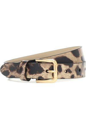 Dolce & Gabbana Leopard-print leather belt