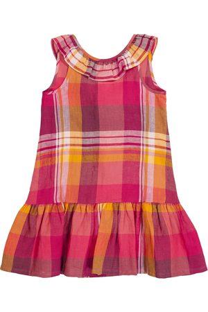 Il gufo Checked linen dress