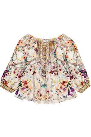 Camilla Embellished floral blouse