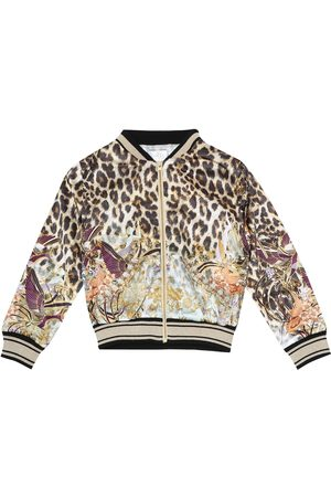 Camilla Embellished jersey bomber jacket