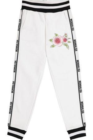MONNALISA Logo cotton-blend sweatpants