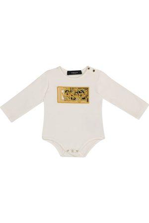 VERSACE Baby Barocco stretch-cotton bodysuit