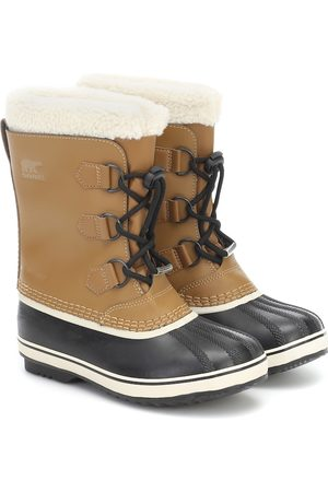 sorel Yoot Pac shearling-trimmed leather snow boots