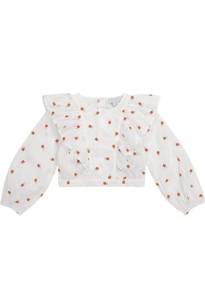 Stella McCartney Embroidered floral cotton blouse