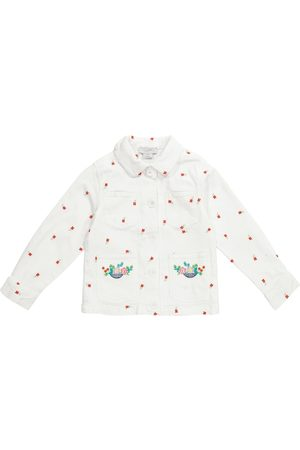 Stella McCartney Embroidered floral denim jacket
