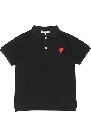 Comme des Garçons Heart logo cotton polo shirt