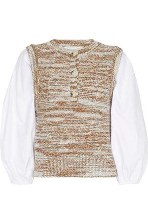 VERONICA BEARD Tahlea layered blouse