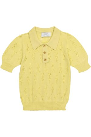 PAADE Pointelle cotton knit polo shirt