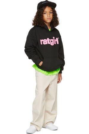 Stray Rats SSENSE Exclusive Kids Black Fleece 'RatGirl' Hoodie