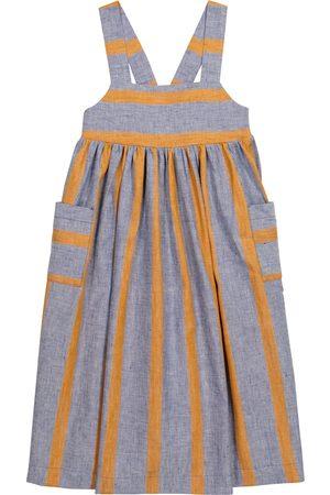 PAADE Sasha striped linen-blend dress