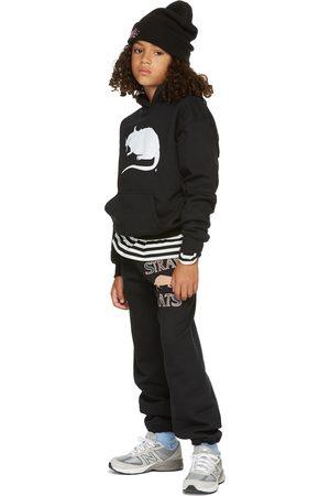 Stray Rats SSENSE Exclusive Kids Black Fleece Logo Hoodie