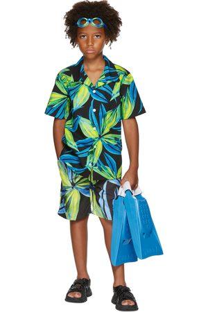 Louisa Ballou Korte mouw - SSENSE Exclusive Kids Blue & Green Graphic Short Sleeve Shirt