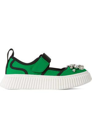 Marni Kids Green Jewel Sneakers