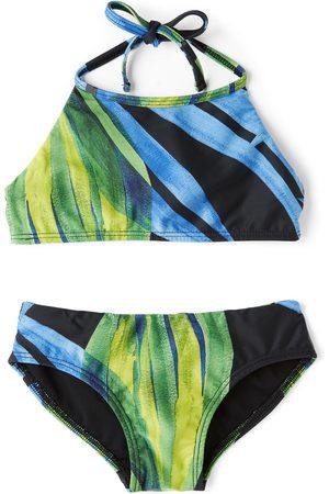 Louisa Ballou Dames Bikini's - SSENSE Exclusive Kids Black & Green Halter Bikini