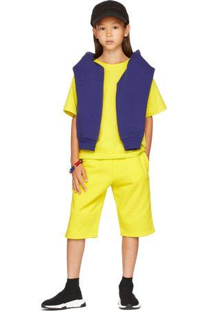 Balenciaga Kids Kids Yellow Embroidery Sweat Shorts