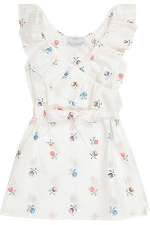 PAADE Alice floral linen-blend wrap dress