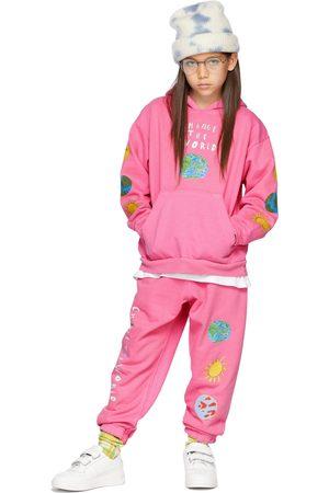 Kids Worldwide SSENSE Exclusive Kids Pink 'Change The World' Hoodie