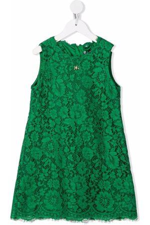 Dolce & Gabbana Meisjes Feestjurken - Lace-patterned sleeveless dress