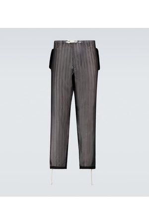 Maison Margiela Striped drawstring pants