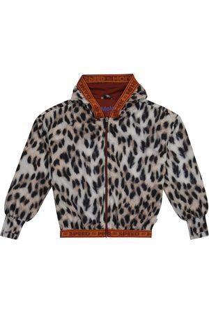 Molo Ophelia leopard-print technical jacket
