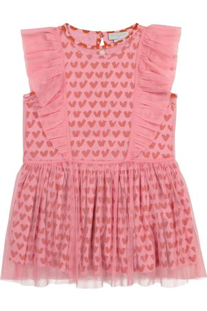 Stella McCartney Convertible printed tulle and cotton dress