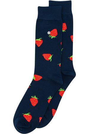 Alfredo Gonzales Heren Sokken - Sokken strawberries navy/red